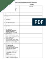 Contoh Senarai Semak Perancangan Strategik Sekolah