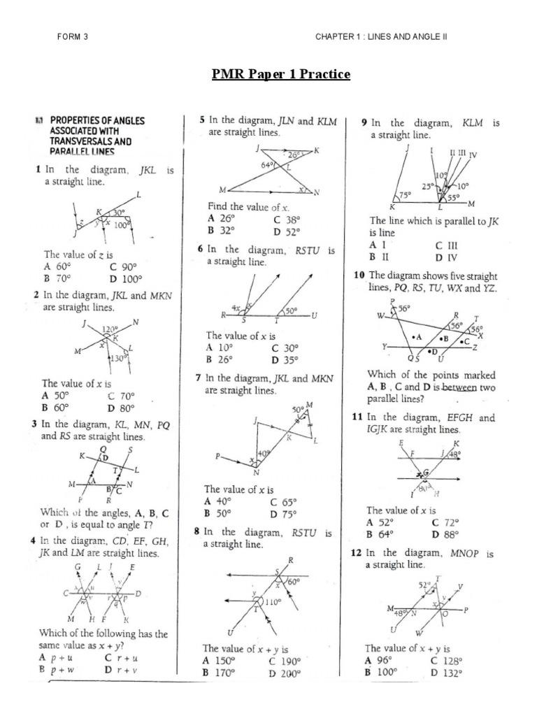 Free Worksheet Ight Worksheets lines angles ii pmr practice