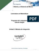 Unidad 3. Métodos de Integracion