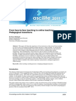unit 4 redmond (2011) from face-to-face teaching to online teaching pedagogical transitions