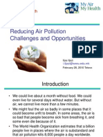 Reducing Air Pollution Challenges and Opportunities