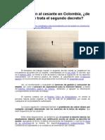 Protección Al Cesante en Colombia