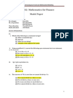 FE 1002 Model Paper Answers