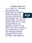 Beloved Mother Mary and Lady Quan Yin