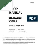Shop Manual Wa500