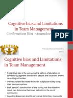 Cognitive Bias and Limitations in Team Management - Presada Bianca Alexandra