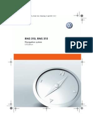 Rns310 Rns315 Manual | Compact Disc | Cd Rom