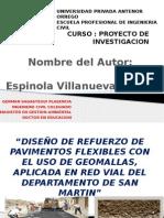 Diseño de Refuerzo de Pavimentos Flexibles Con Geomalla