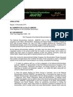 letterhead peace process anafro english