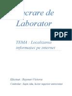 Lucrare de Laborator Numărul 1
