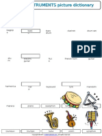 01 Musical Instruments Vocabulary Worksheet