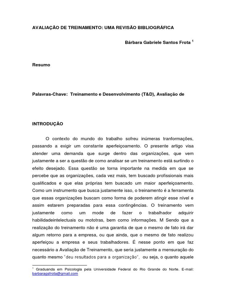 Artigo revisao bibliografica