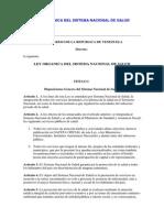 Ley Organica Del Sistema Nacional de Salud y Otros Documentos