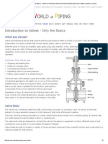 Introduction to Valves - Only the Basics - Valves Are Mechanical Devices That Controls the Flow and Pressure Within a System or Process