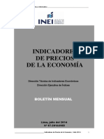 indicadores de precios de la economía