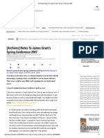 [Archives] Notes to James Grant's Spring Conference 2007