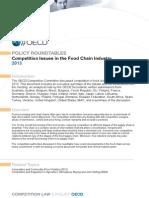 OCDE Concorrencia Cadeia Alimentar2014