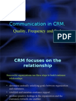 Communication in CRM-Quality , Style, Frequency