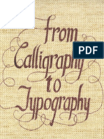From Calligraphy to Typography