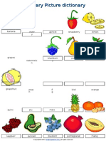 02 Food Fruit Vocabulary Pictionary Poster Worksheet2015
