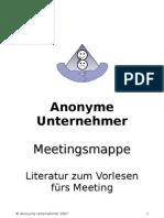 Meetingsmappe Anonyme Unternehmer