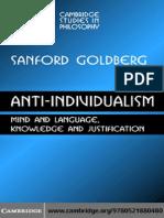 Sanford C. Goldberg- Anti-Individualism Mind and...