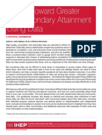 Driving Toward Greater Postsecondary Attainment Using Data (Complete PDF)
