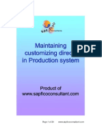 Customizing Directly in Prod
