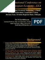 Livestock coop marketing - Dr.M.Karthikeyan