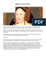 Pregnancy and Childbirth in Tudor Times