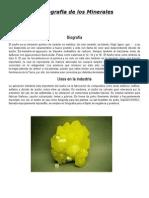 Bibliografia de Los Minerales