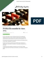 Producción Mundial de Vinos 2014 – El Enólogo Argentino