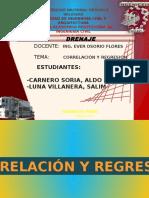 Correlación y Regresión Lineal civil UNHEVAL