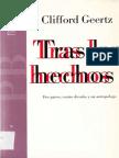 Geertz Clifford, Tras Los Hechos