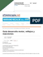 Guía Desarrollo Motor, Reflejos y Reacciones - Artículo de Fisioterapia