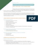 Temario área de Ciencia Tecnología y Ambiente 2015