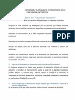 Preguntas y Respuestas Sobre El Programa de Promoción en La Función Por Incentivos