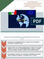 Los aspectos geográficos para la realización de un intercambio comercial entre México y la Unión Europea