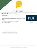 Fukuyama. Latin American Experience