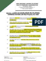Batas Tungo Sa Kaunlaran ng Pilipinas