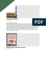 Libros de Historia Antigua