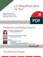 SharePoint 2013 eDiscovery