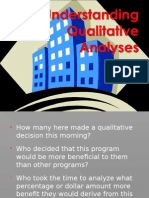 Understanding Qualitative Analyses