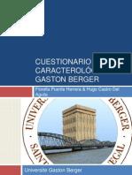 Cuestionario Caracterologico de Gaston Berger Nuevo