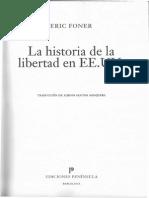 FONER, Eric. La Historia de La Libertad en EEUU Cap. 1 & 4 Tema 1