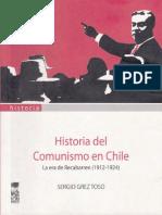 Historia Del Comunismo en Chile - Sergio Grez