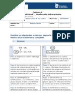 MIV-U1- Actividad 1. Nombrando Hidrcarburos