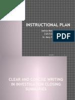 morales instructional plan