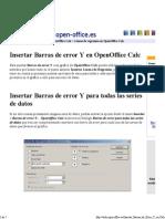 Open Office - Insertar Barras de Error Y