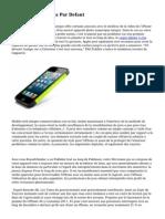 Iphone Applications Par Defaut